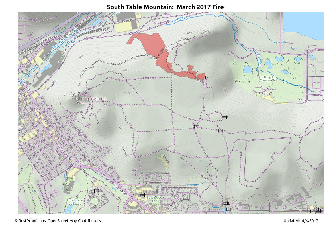 South Table Mountain Estimated Burn - Improved Estimate