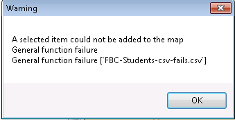 ArcGIS Lame Error Message 1